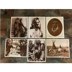 Set of Sepia Tone Photo Prints, Native American Indians, Wild West
