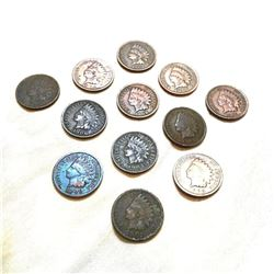 Group of Early 1900's Indian Head Pennies
