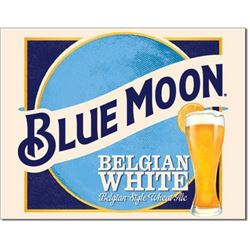 Blue Moon Belgian White Beer, Pub Bar Metal Sign