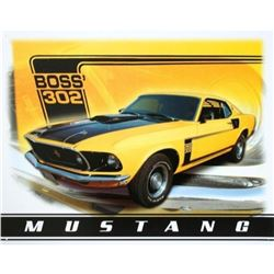 Mustang Boss 302, Ford Motor Company, Garage Pub Bar Advertising Sign