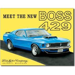 Mustang Boss 429, Ford Motor Company, Garage Pub Bar Advertising Sign