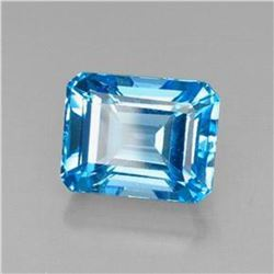 8.43ct Octagon Facet Swiss Blue Topaz
