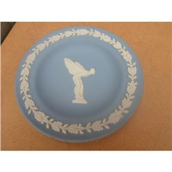 Wedgwood Blue Jasperware Rolls Royce Spirit of Ecstacy Pin Dish