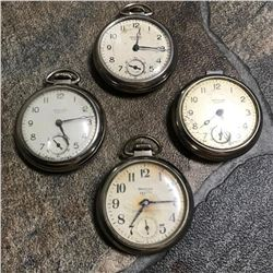 Hobbyist Group of Mid-century Westclox Scotty Pocket Watches for Repair, Parts