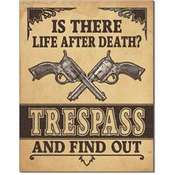 Metal Tresspass Sign, Is There Life After Death