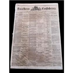 RARE! 1862 Southern Confederacy, Atlanta Georgia Newspaper