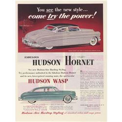 1952 Hudson Hornet & Wasp Magazine Advertisement