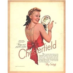 1941 Chesterfield Cigarettes, Marion Hutton Ad