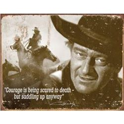 John Wayne - Courage Metal Pub Bar Sign