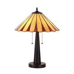 Tiffany-style Stained Slag Glass Table Lamp