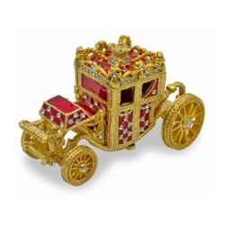 Russian Royal Coach Rolling Trinket Jewel Box