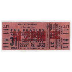 Unused Beatles ticket.