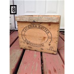 FINGER JOINTED WOODEN BOX. CANADIAN BUTTER – MELFORT