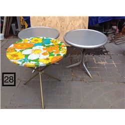 3 SMALL 3 LEGGED ALUMINUM OUTDOOR CAMPING SIDE TABLES