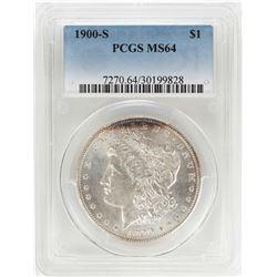 1900-S $1 Morgan Silver Dollar Coin PCGS MS64