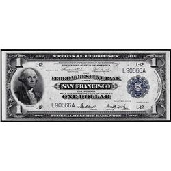 1918 $1 Federal Reserve Bank Note San Francisco