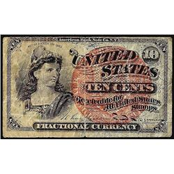 1863 Ten Cent 4th Issue Fractional Currency Note