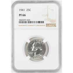 1941 Proof Washington Quarter Coin NGC PF66