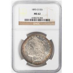 1893-O $1 Morgan Silver Dollar Coin NGC MS62