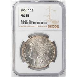 1881-S $1 Morgan Silver Dollar NGC MS65 Nice Toning