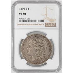 1896-S $1 Morgan Silver Dollar Coin NGC VF20