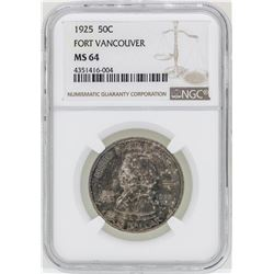 1925 Fort Vancouver Commemorative Half Dollar Coin NGC MS64