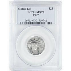 1997 $25 American Platinum Eagle Coin PCGS MS69