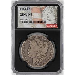 1895-S $1 Morgan Silver Dollar Coin NGC Genuine