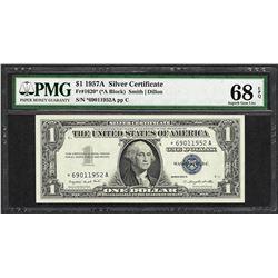 1957A $1 Silver Certificate STAR Note Fr.1620* PMG Superb Gem Uncirculated 68EPQ