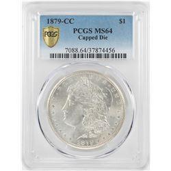 1879-CC Capped Die $1 Morgan Silver Dollar Coin PCGS MS64