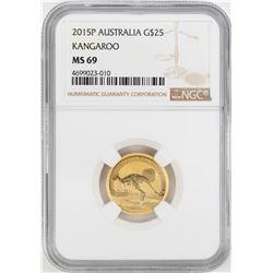 2015P $25 Australia Kangaroo Gold Coin NGC MS69