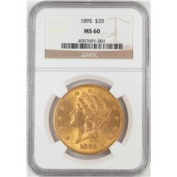 1895 $20 Liberty Head Double Eagle Gold Coin NGC MS60
