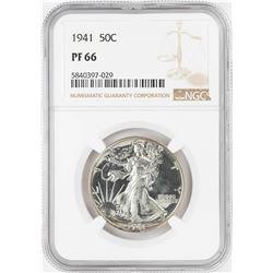 1941 Proof Walking Liberty Half Dollar Coin NGC PF66