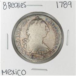 1789 Mo Mexico 8 Reales Silver Coin