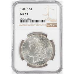 1900-S $1 Morgan Silver Dollar Coin NGC MS63