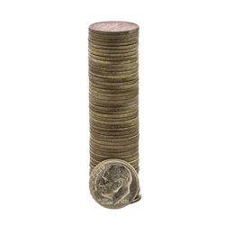Roll of (50) Brilliant Uncirculated 1955 Roosevelt Dime Coins