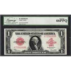 1923 $1 Legal Tender Note Fr.40 Legacy Gem New 66PPQ
