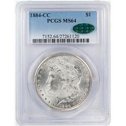 1884-CC $1 Morgan Silver Dollar Coin PCGS MS64 CAC