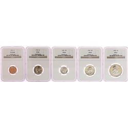 1950 (5) Coin Proof Set NGC Certified
