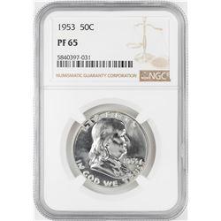 1953 Proof Franklin Half Dollar Coin NGC PF65
