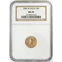 2006-W $5 American Gold Eagle Coin NGC MS70