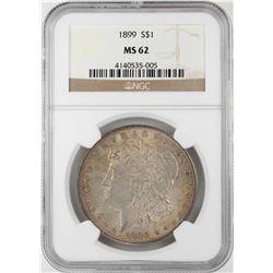 1899 $1 Morgan Silver Dollar Coin NGC MS62