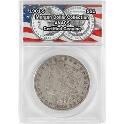 1901-S $1 Morgan Silver Dollar Coin ANACS Certified Genuine