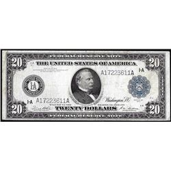 1914 $20 Federal Reserve Note Boston