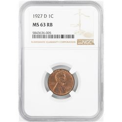 1927-D Lincoln Wheat Cent Coin NGC MS63RB