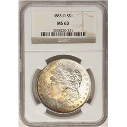 1883-O $1 Morgan Silver Dollar Coin NGC MS63 AMAZING Toning