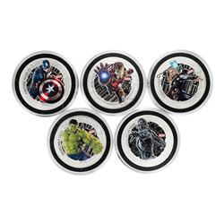 Set of (5) 2015 Niue $2 Proof Avengers Age of Ultron Silver Coins