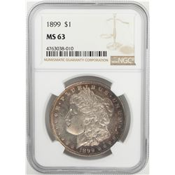 1899 $1 Morgan Silver Dollar Coin NGC MS63
