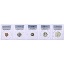 1937 (5) Coin Proof Set PCGS Graded PR63/PR64/PR65