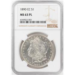 1890-CC $1 Morgan Silver Dollar Coin NGC MS63PL